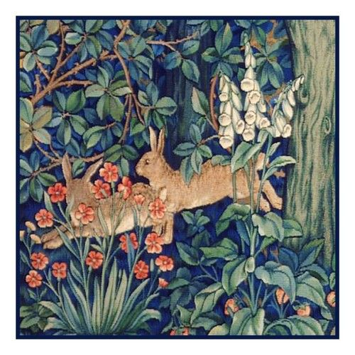 William Morris/'s Forest Animals Panel Runner Counted Cross Stitch Pattern