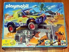 New Playmobil 4421 Desert Race Jeep Off Road Rally Pieces Factory Sealed Inside