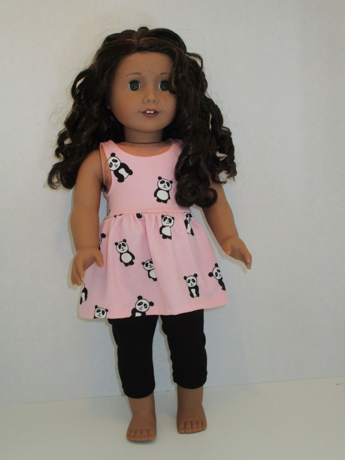 Doll Panda Pattern Sleepwear Outfit for 18/'/' AG American Doll Dolls