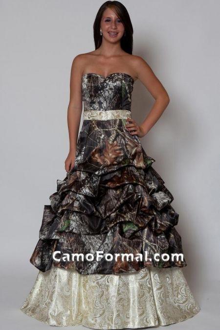 Camo Wedding Dress Style 3066 And Gold Paisley Brocade Dressc Photos
