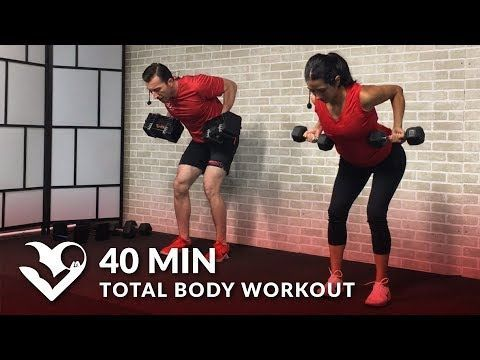 50 min full body workout with dumbbells  weight training
