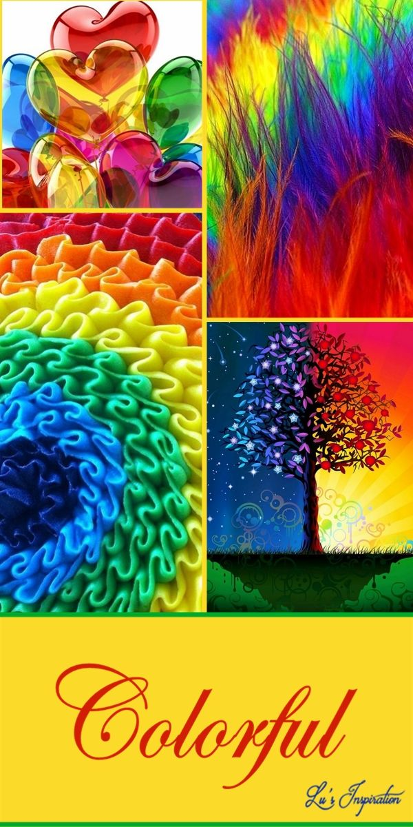 Rainbow Colours With Images Color Collage Rainbow Colors