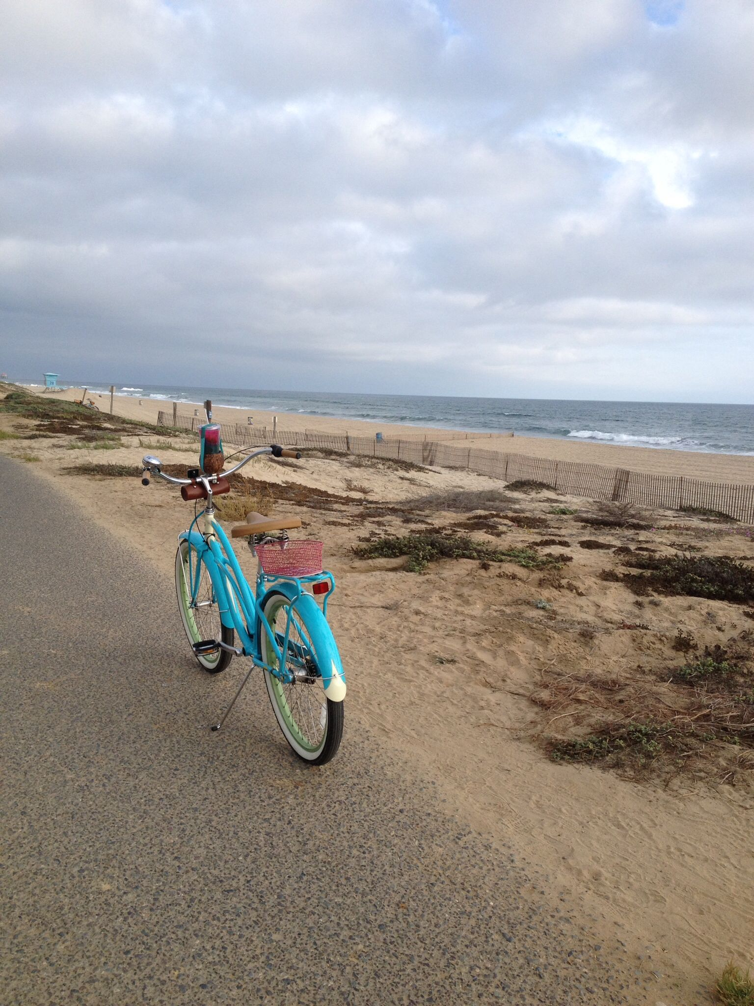 The Bolsa Chica Beach Bike Path Between Seapoint Street And Warner This  Part Of The Trail