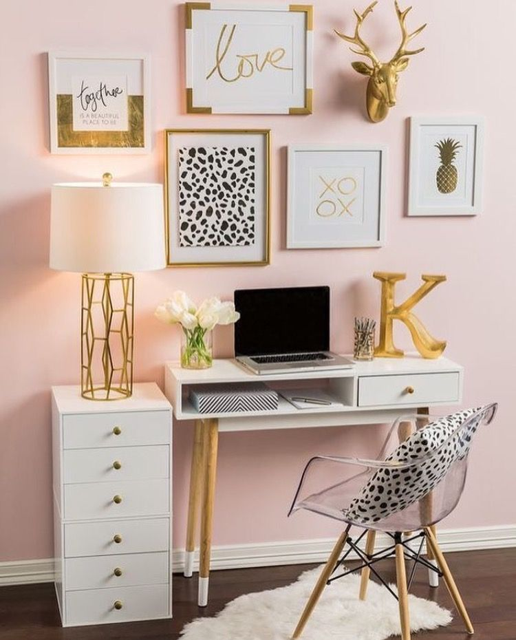 So neat and tidy should have my desk like this for Gold home decorations