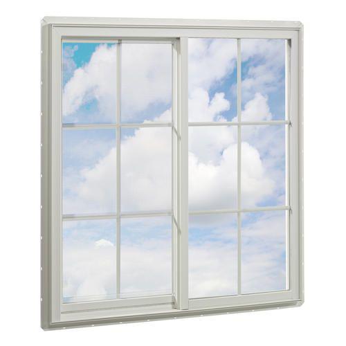 crestline 48 x 48 vinyl single slider window with zo e shield