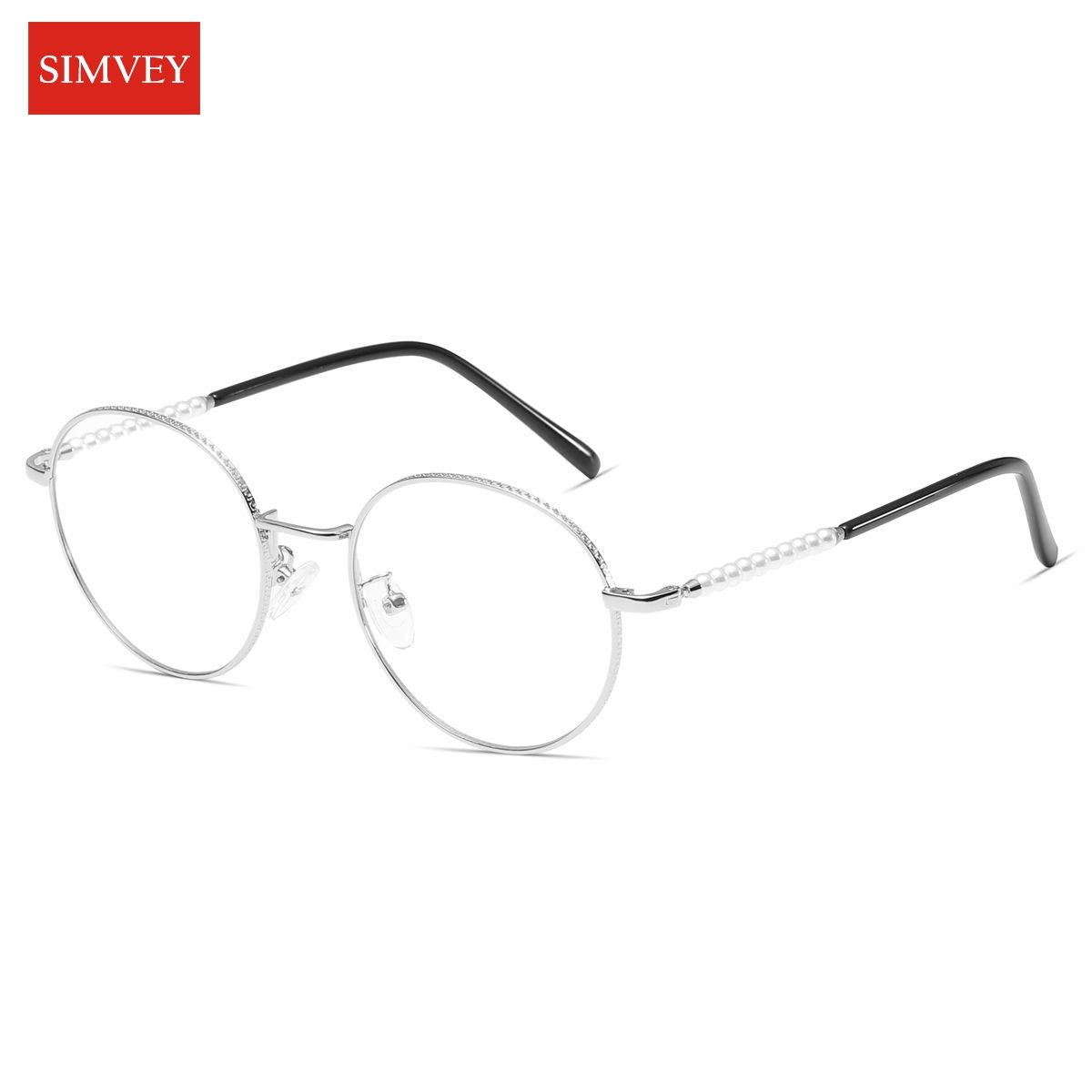 381ae7459e Simvey 2017 Fashion Computer Glasses Women Blue Light Blocking Glasses  Metal Frame Gaming Glasses With Pearl