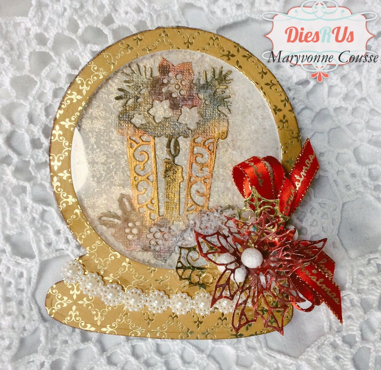 HI Dies R US Friends ! Maryvonne with you today for a Fun Christmas Snowglobe Shaker card ! Here is my Card : ...