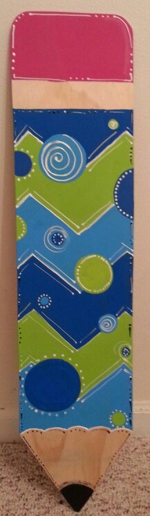 Pencil door hanger for the classroom (not quite finished...working on some creative thoughts...lol)