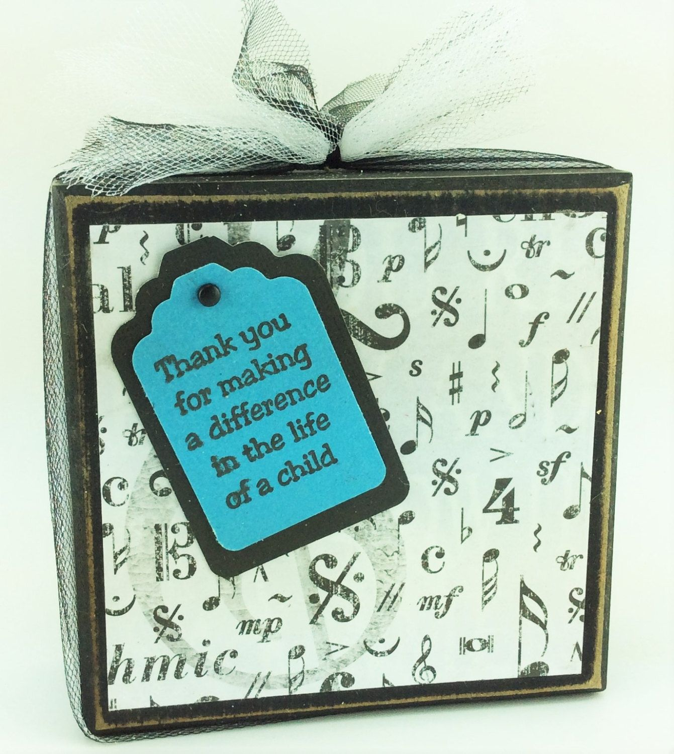 AG Designs Block Sitter - Sunday Christian Music Teacher Thank You 7-15/08 by AgapeGiftsOnline on Etsy