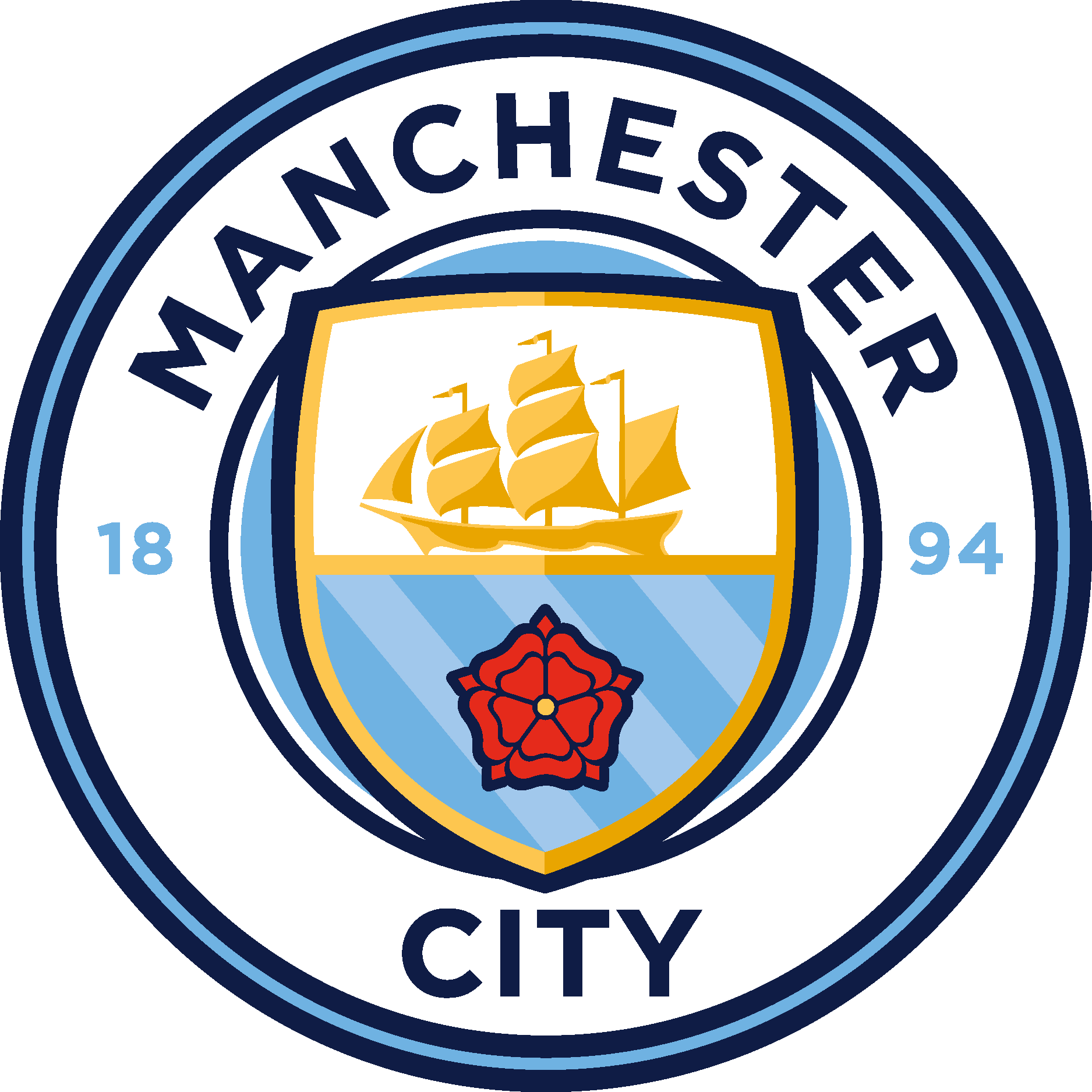 Manchester City Football Club Logo Eps File Vector Eps Free Download Logo Icons Clipart Manchester City Logo Manchester City Football Club Manchester City