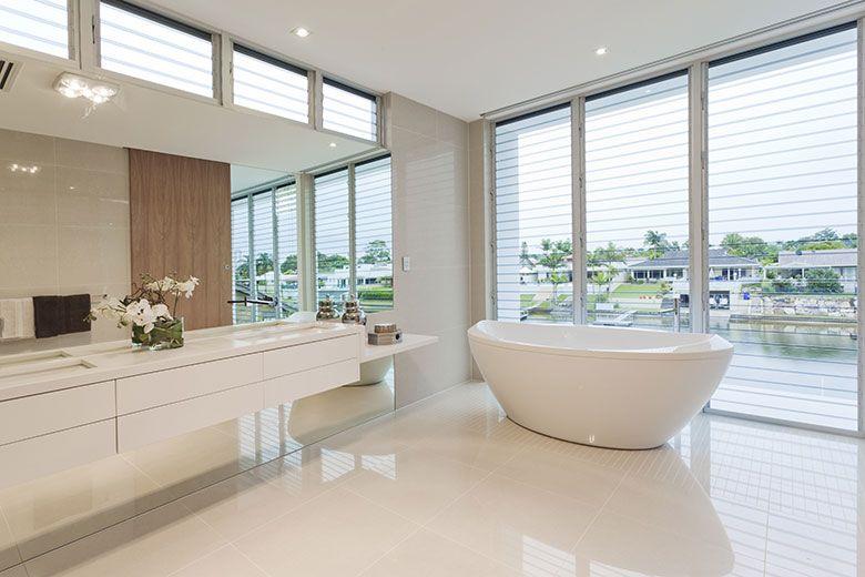 Badkamers voorbeelden modern badezimmer in