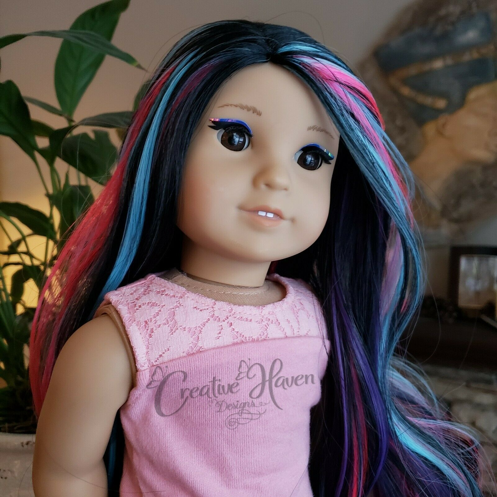 American Girl Custom DIY Holographic Eyeliner Makeup Jess