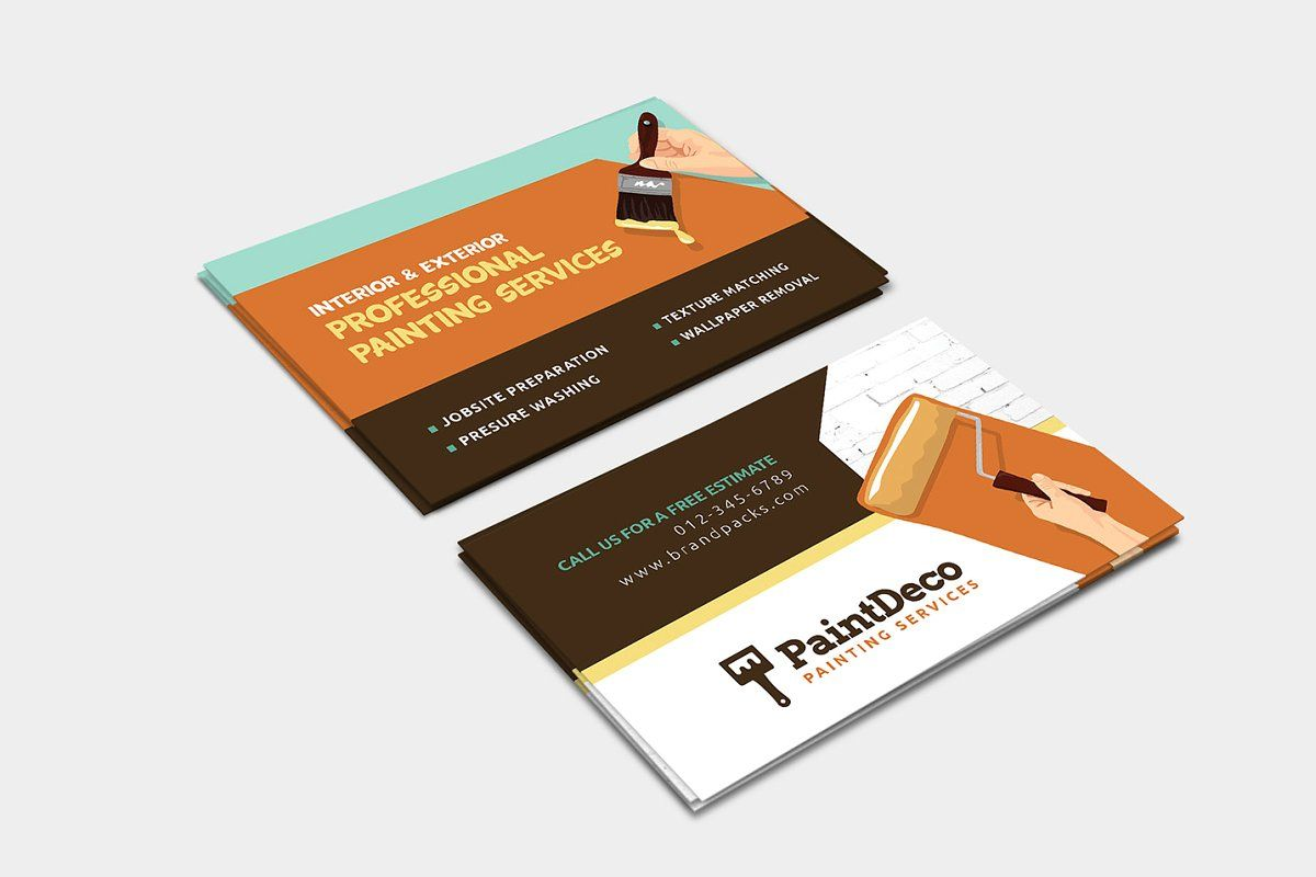 Painter Decorator Business Card Painter Business Card Decorator Business Card Free Business Card Templates