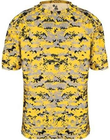 6c52a874d Badger Sportswear 4180 Badger Men s Short Sleeve Sublimated Camo Tee - Gold  Digital - XX-Large