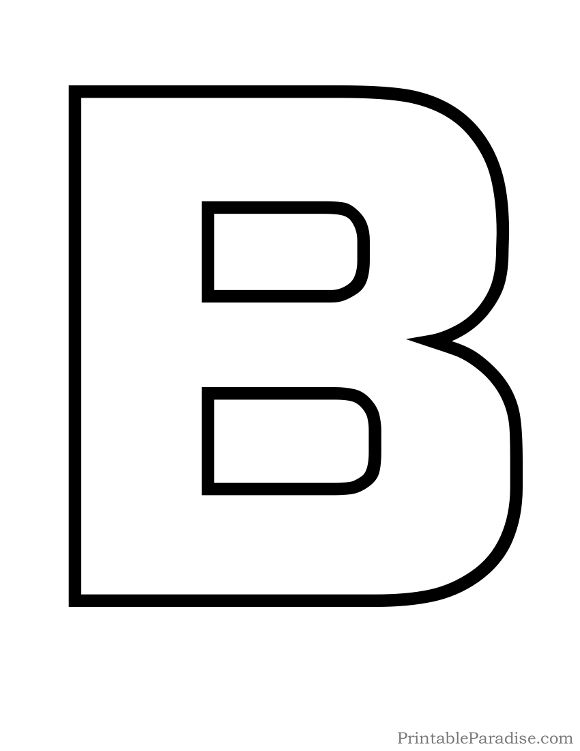 B In Bubble Letters Printable Letter B Out...