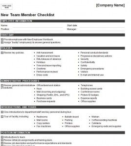 new hire checklist checklist template home based business