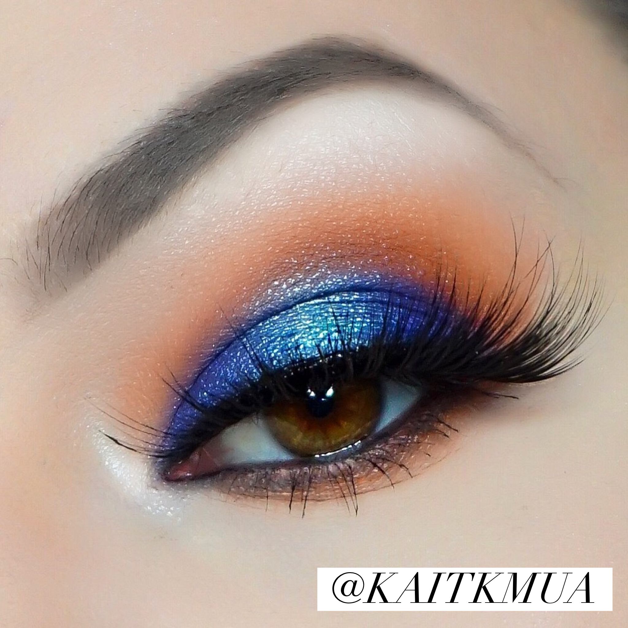 Jaclyn Hill X Morphe Palette for this blue and orange eye