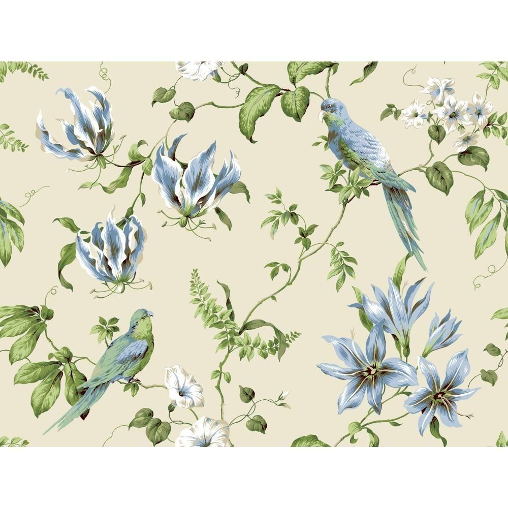 York Wallcoverings Casabella II Tropical Floral Wallpaper