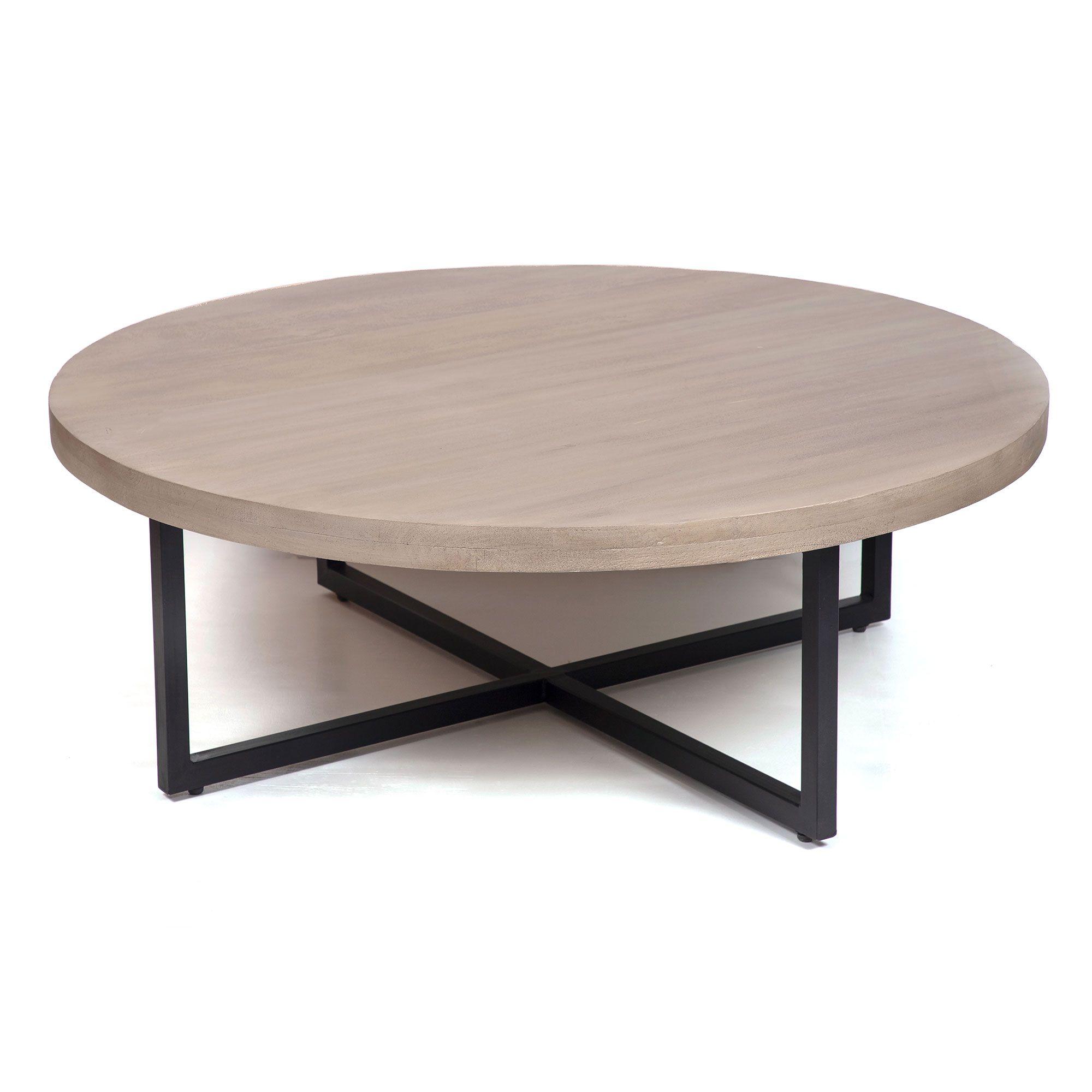 Malibu Round Coffee Table Downeast Home In 2021 Coffee Table Round Coffee Table Table [ 2000 x 2000 Pixel ]
