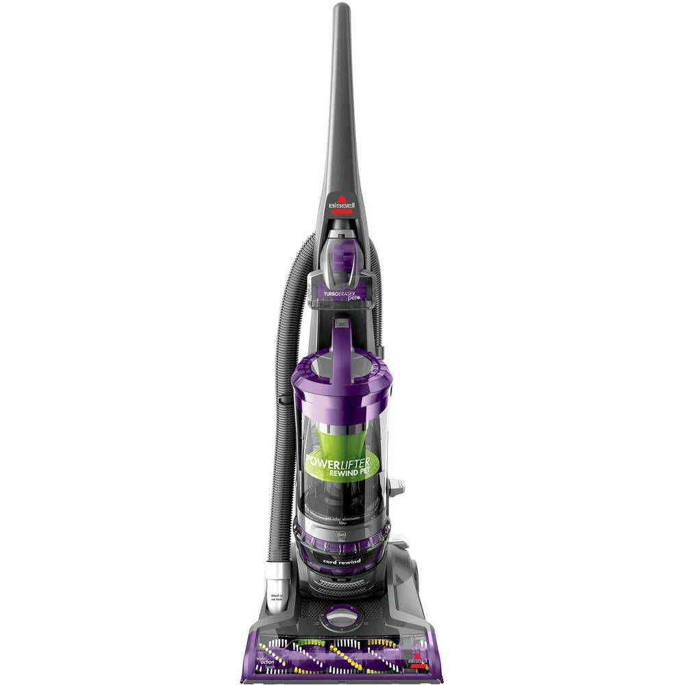 Bissell Powerlifter Pet Rewind Bagless Upright Vacuum Automatic