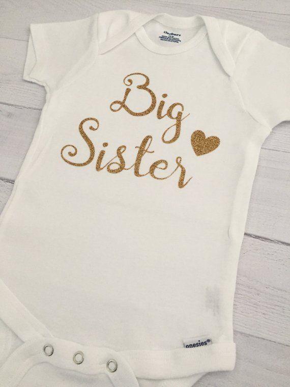 ae7265cc9 Big Sister ONESIE® Bodysuit, Pregnancy Announcement ONESIE® Bodysuit, Baby  Girl Clothing