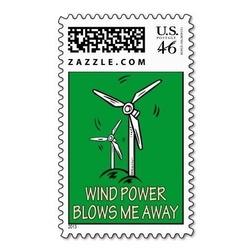 Wind Power Blows Me Away Postage Zazzle Com Wind Power Postage Stamps Stamp