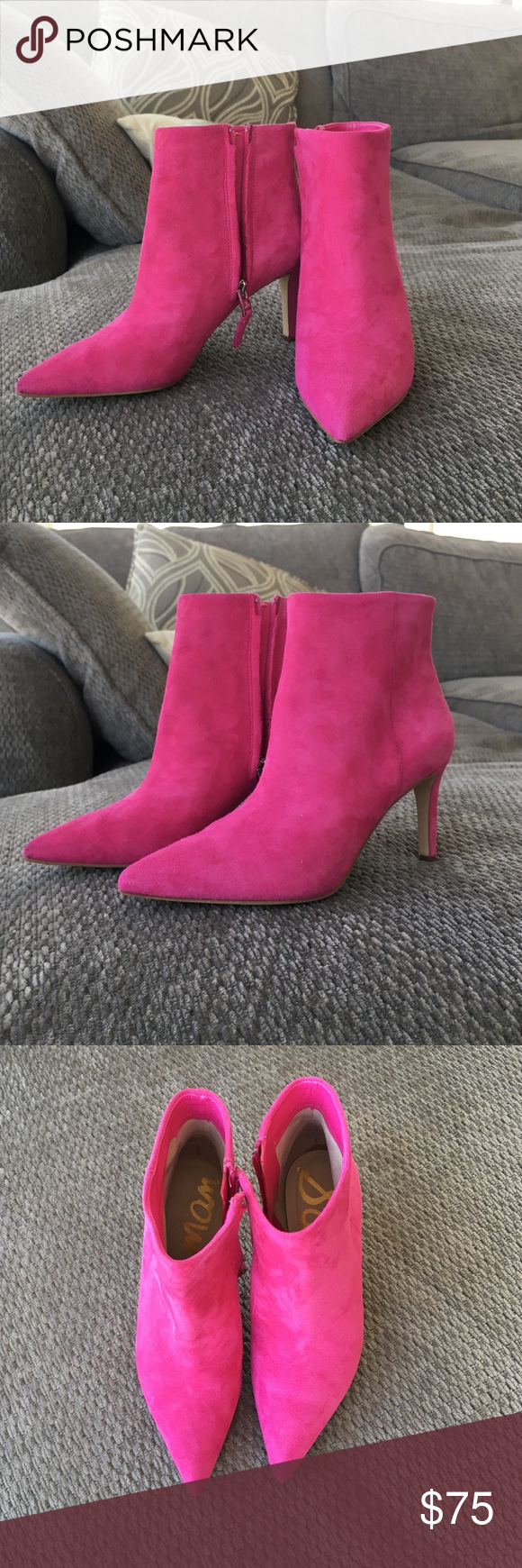 db205399fadd17 Sam Edelman hot pink suede boots - Karen Style Never been worn ...