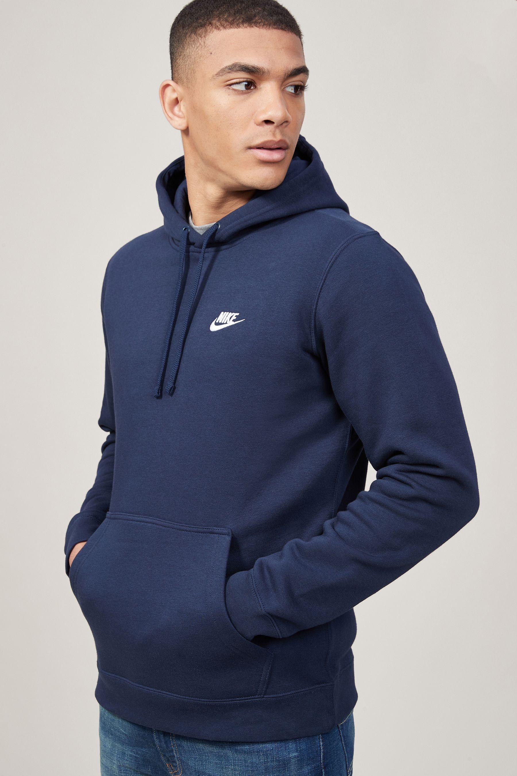 Mens Nike Club Hoody Blue Nike Hoodie Nike Clothes Mens Hoodies [ 2700 x 1800 Pixel ]