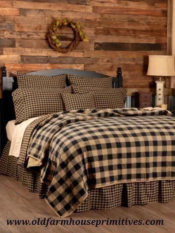 Photo of #BCS2 Primitive Black Check Bedding