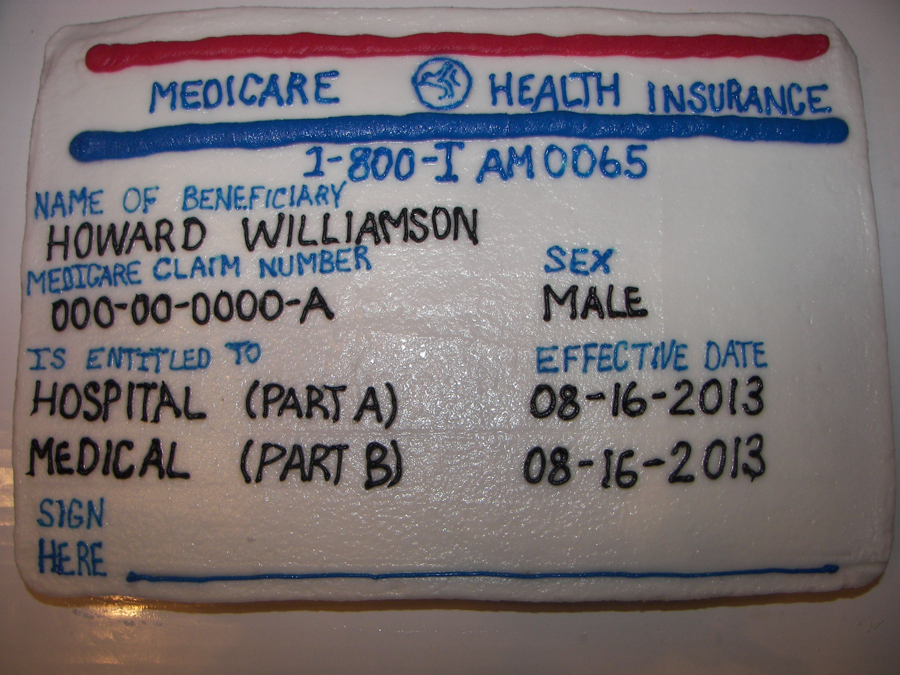 Another Medicare Card Cake