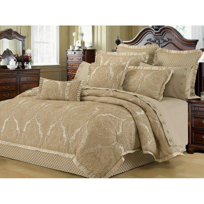 Walbridge Lux Jacquard Comforter Set Comforter Sets
