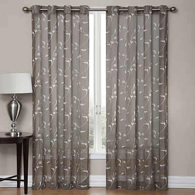 SONOMA life + style® Delany Embroidered Sheer Window Panel ...