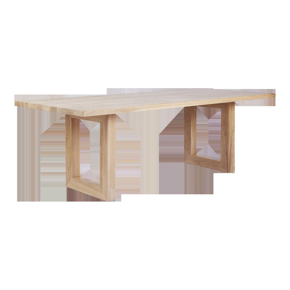 Bondi Rectangular Dining Table Americanoak Angle Dining Table