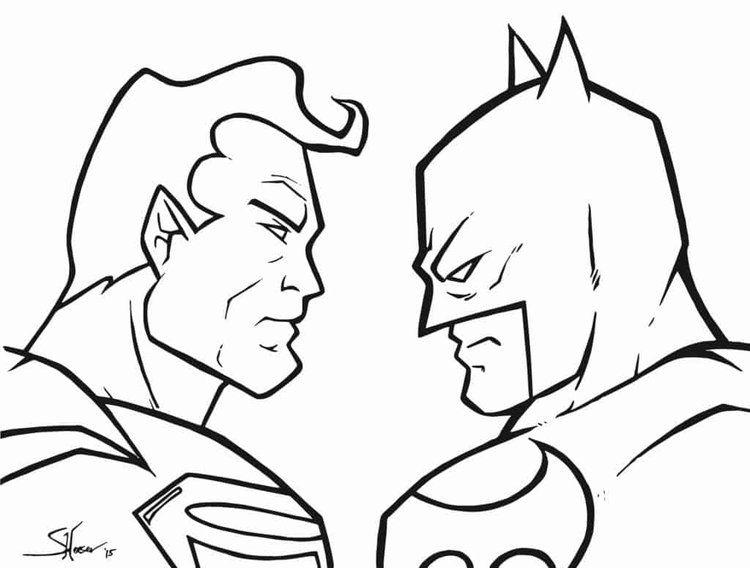 Batman Vs Superman Coloring Pages Printable From Batman Coloring