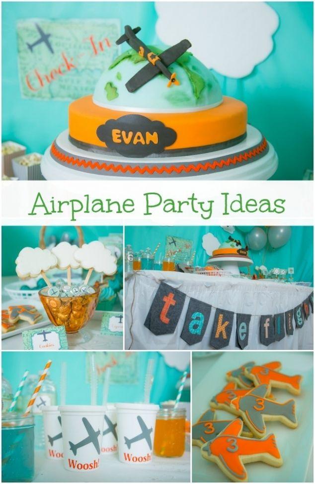 Boy Airplane Birthday Party Ideas wwwspaceshipsandlaserbeamscom
