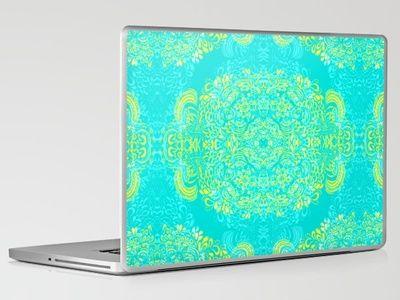 Laptop & iPad Skin - Thinking - 2 colour zest by Cally Creates $30