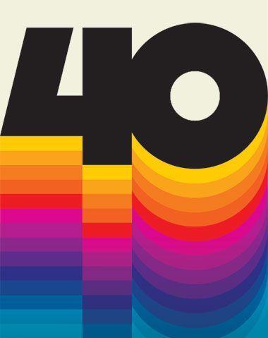 COULEUR: J'aime la conception morte d'antan. La couleur utilisée dans les années 70 et au début … - Typographie