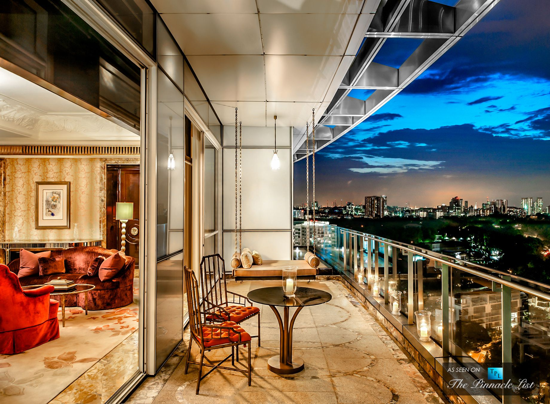 081 st regis luxury hotel singapore president suite for Luxury balcony design