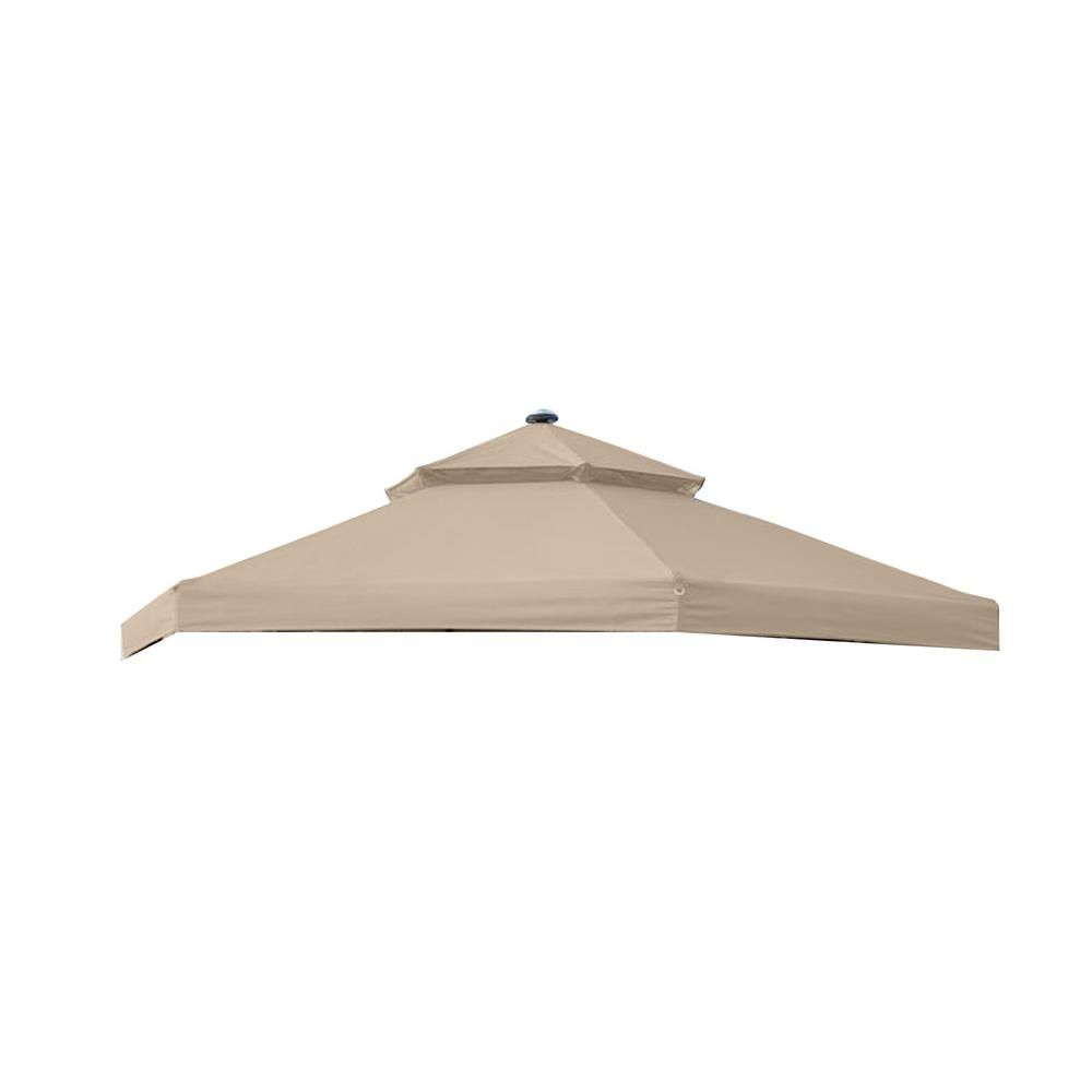 Garden Winds Standard 350 Beige Replacement Canopy For 10 Ft X 10 Ft Solar Hexagon Gazebo Products Replacement Canopy Gazebo Replacement Canopy Hexagon