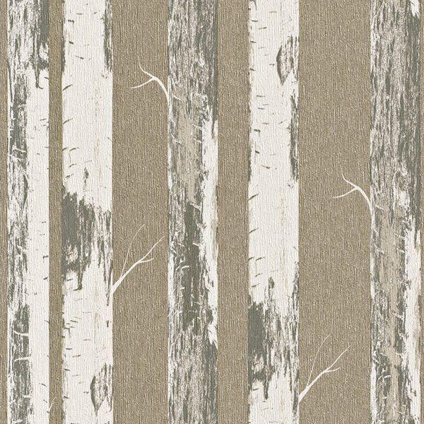 Walls Republic Gold Contemporary Metallic Paper Birch Wallpaper R4366 Rona Birches Wallpaper Birch Tree Wallpaper Tree Wallpaper