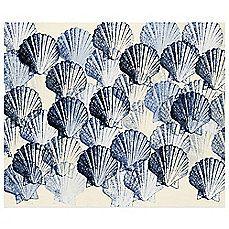 image of Indigo Scallop Shells Wall Art