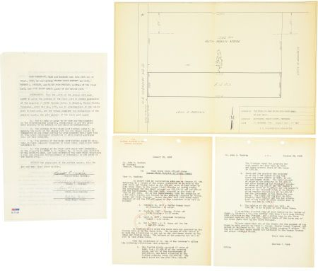Elvis Presley and Parents Signed Graceland Purchase Agreement - purchase agreement
