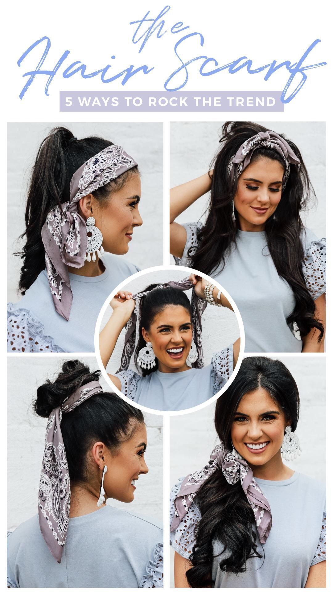 How To Rock A Hair Scarf 5 Ways!