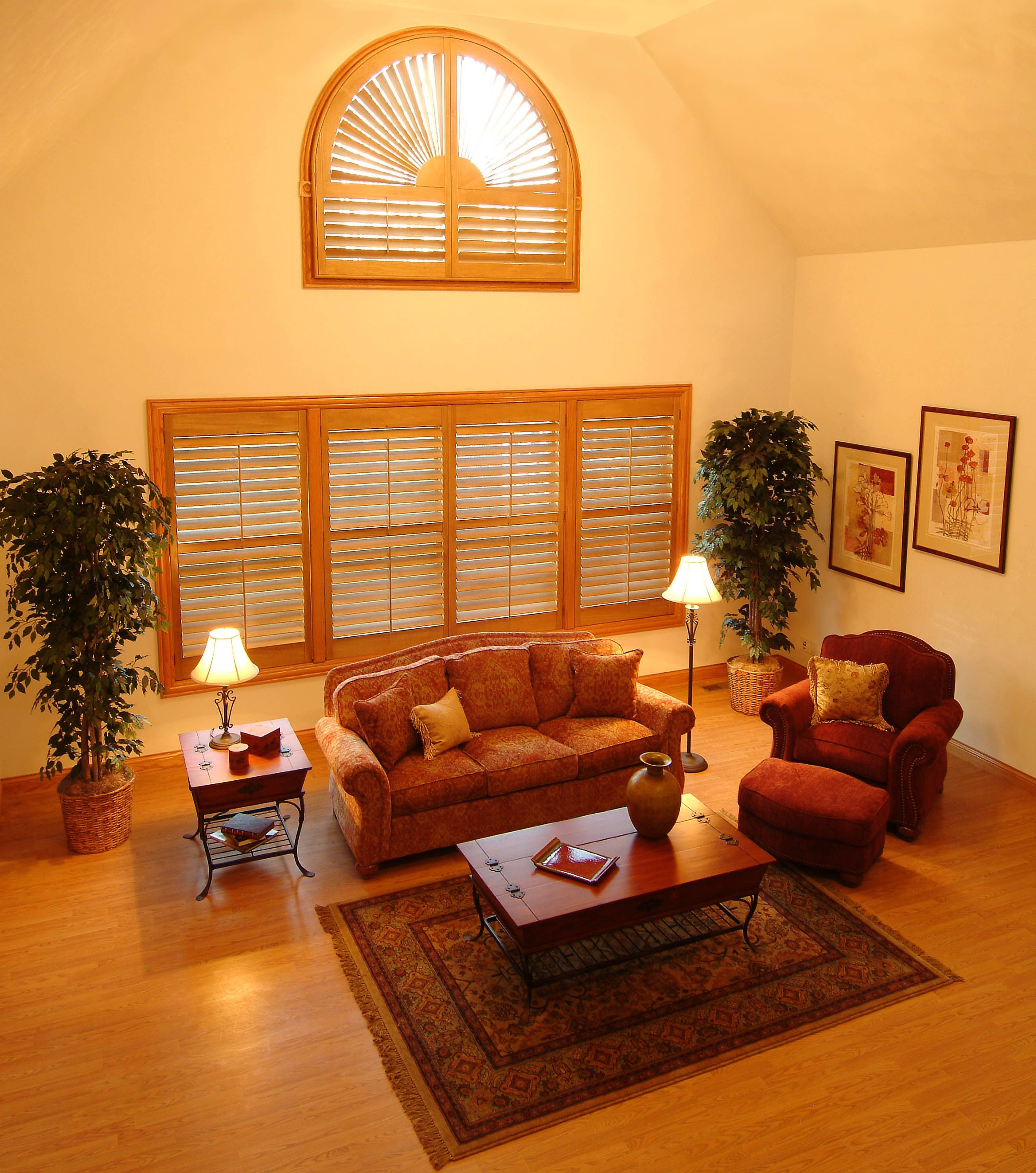 Pin On Shutters #plantation #shutters #living #room
