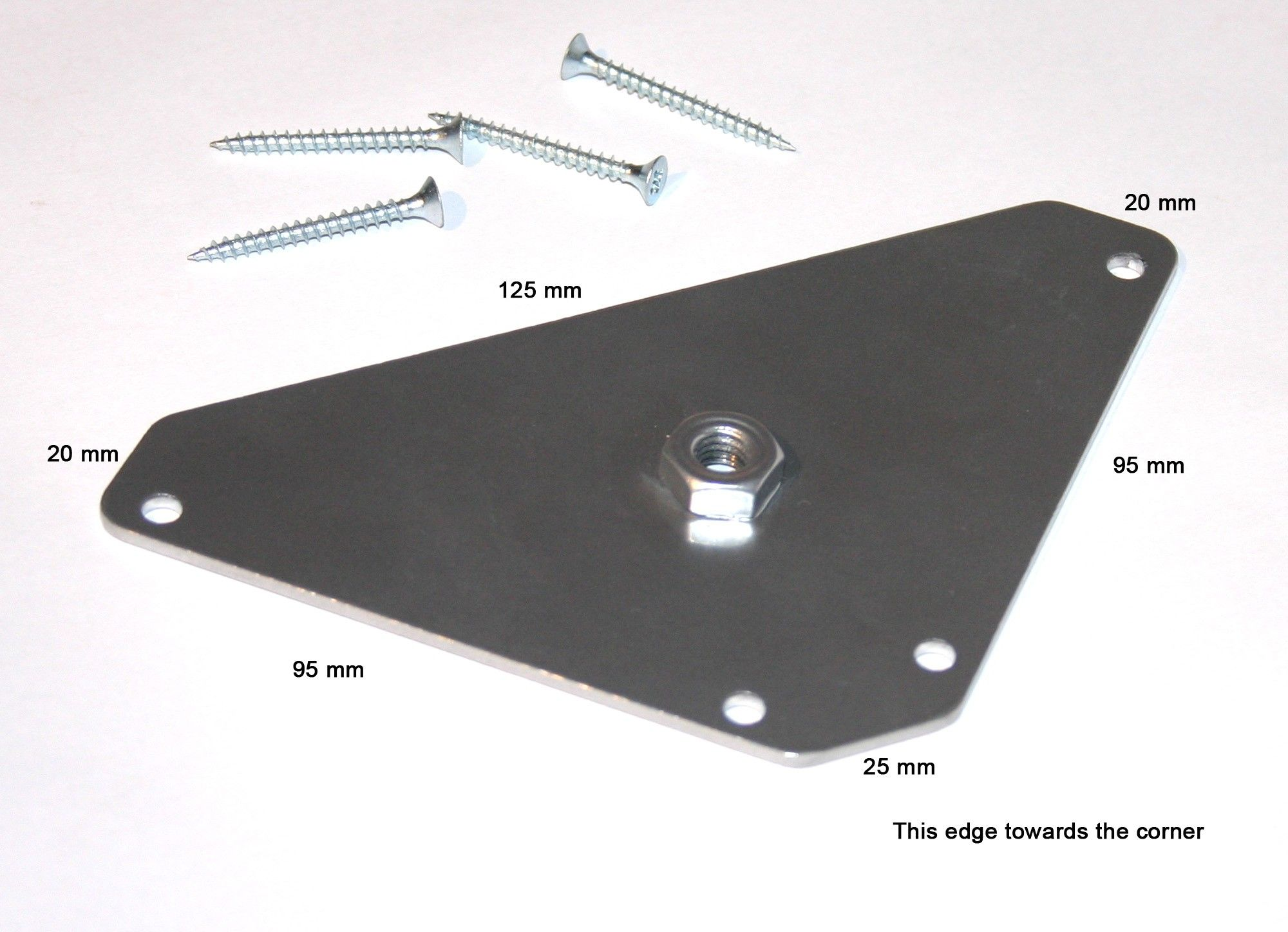 Universal Fixing Plate Standard Top Side of Plate