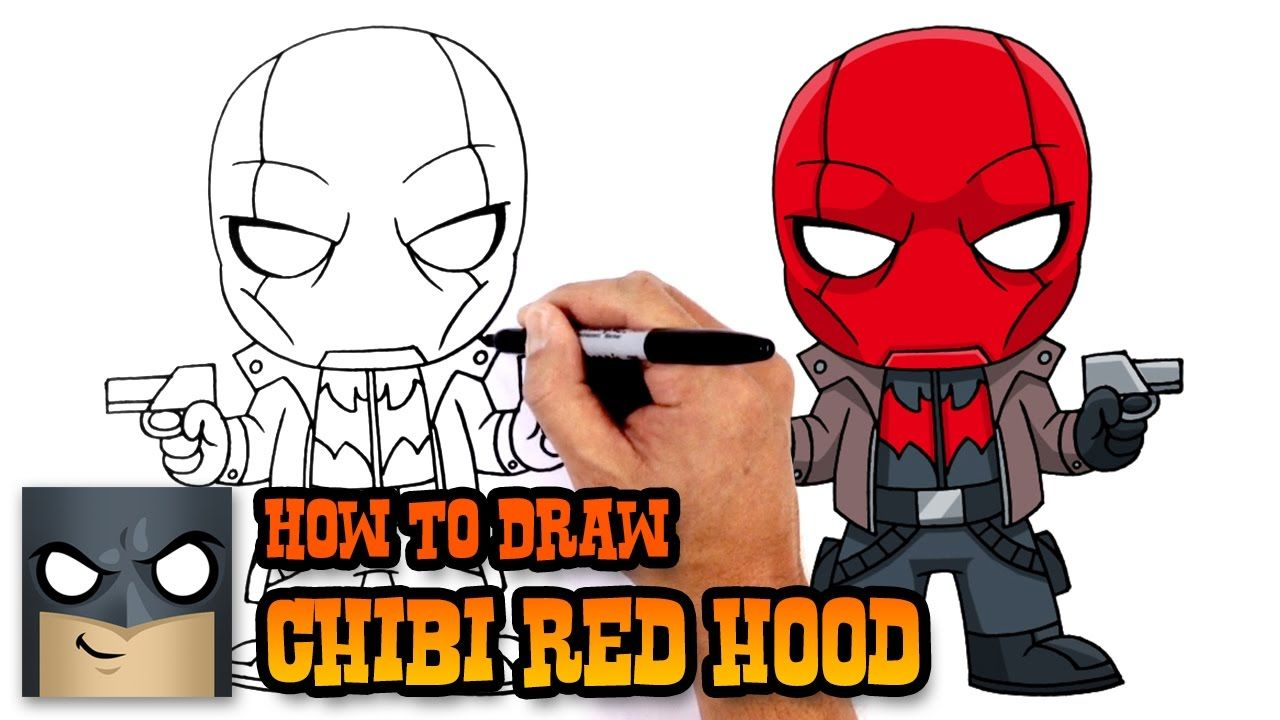 How to Draw Red Hood (Chibi) Simple Drawing Tutorial