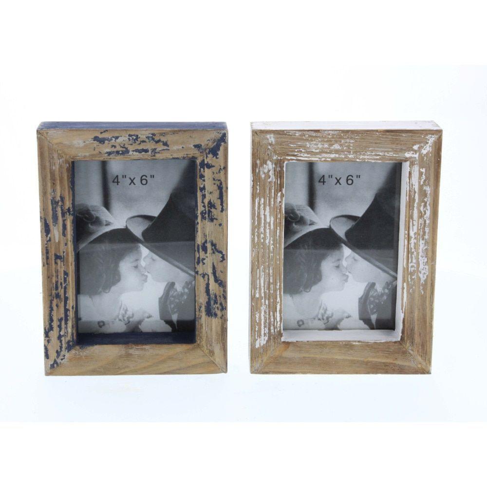 Benzara Wood Decor Photo Frame, Assorted 2 (Brown), Size 5x7