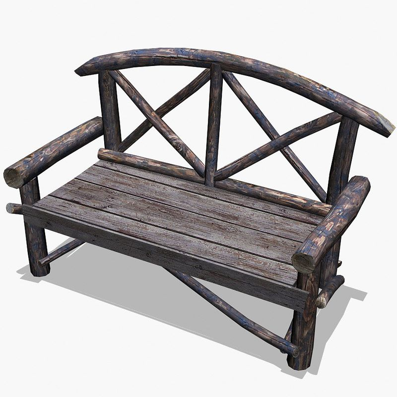 Wooden Park Bench free 3d model | Architecture free 3d models