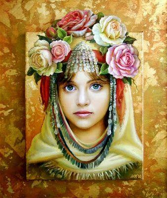 Pinturas Cuadros Retratos De Niñas Cuadros Al óleo Maria Ilieva Bulgaria Retratos De Niños Producción Artística Imagenes De Arte