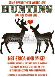 cool redneck wedding idea for invitations just change the deers to ducks for duck dynasty wedding - Redneck Wedding Invitations